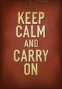 The words keep calm and carry on vector eps Stock Photography