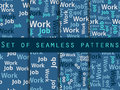Words seamless pattern, word collage, words design. Seamless pattern with words. Association with the work search. Vector