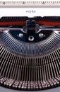 Words on typewriter Royalty Free Stock Photo