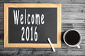 The words Welcome 2016 Royalty Free Stock Photo