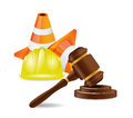 Work accident lawyer concept illustration design over white Stock Images