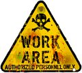 Work area sign warning prohibition vector Stock Photography