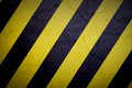 Work background yellow and black paint cracked Royalty Free Stock Photography