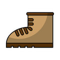 Work boot shoe isolated icon