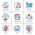 Work Force Management Business Team Leadership Icon Set Progress Skills Headhunting Royalty Free Stock Photo