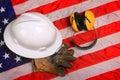 Work Gear of American Blue Collar Worker