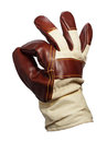 Work glove - okay Royalty Free Stock Photo