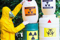 Work with hazardous materials Royalty Free Stock Photo