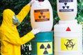 Work with hazardous materials Royalty Free Stock Photo