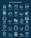Work health and occupational safety icons Royalty Free Stock Photo