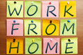 Work from home ad Royalty Free Stock Photo