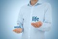 Work life balance concept man prefer against Stock Photo