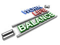 Work life balance plus equals to formula of a successful personal or professional Stock Photography