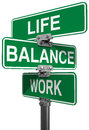 Work life or balance street signs choose between directions Royalty Free Stock Image