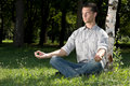 After-work meditation Stock Images
