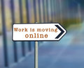 Work is moving online Royalty Free Stock Photo
