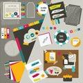 Work office web layout. Royalty Free Stock Photo