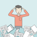 Work overload Royalty Free Stock Photo