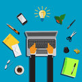 Work place, business, vector illustration