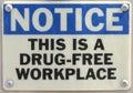 Work Place Warning Royalty Free Stock Photo