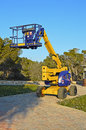 A work platform known as cherry picker Royalty Free Stock Photography