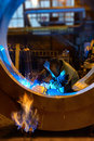 Work product of foundry processes treatment process at the plant heavy mechanical engineering Stock Image