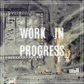 Work in Progress. Construction site shot from above.Industrial a Royalty Free Stock Photo