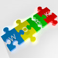 Work puzzle background d render Royalty Free Stock Photos