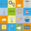 Work repair mechanic industry obejts Royalty Free Stock Images