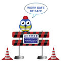 Work safe message Stock Photography