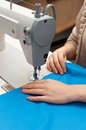 Work at the sewing machine Royalty Free Stock Images