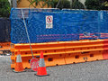 Work Site Safety Barriers Royalty Free Stock Photo