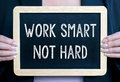 Work smart not hard Royalty Free Stock Photo