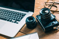Work space for photographer Royalty Free Stock Photo