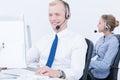 Work in telemarketing Royalty Free Stock Photo