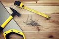 Work Tools On Wood