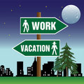 Work and vacation pointer Royalty Free Stock Image