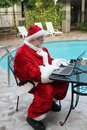 Work Vacation For Santa Royalty Free Stock Photo