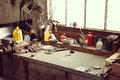 Workbench closeup on a in interior Royalty Free Stock Photo