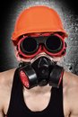 Worker in biohazard mask Royalty Free Stock Photo