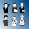 Worker Character Set Royalty Free Stock Image