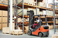Worker Driver At Warehouse For...