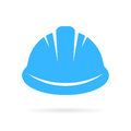 Worker hard hat vector icon