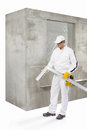 Worker with a lath construction Royalty Free Stock Photo