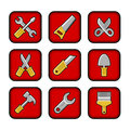 Worker tools icons this is file of eps format Royalty Free Stock Images