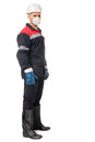 Worker wearing safety protective gear Royalty Free Stock Photo