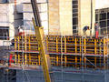 Workers at the construction site Stock Photography
