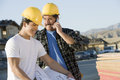 Workers At Construction Site Royalty Free Stock Photo