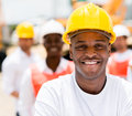 Workers at a construction site Royalty Free Stock Photo