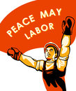 Workers day poster or labor celebration Royalty Free Stock Photo